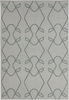 Lima Scroll Flatweave Rug in Gray and Green