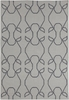 Lima Scroll Flatweave Rug in Gray and Slate