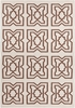Lima Tiles Flatweave Rug in Brown