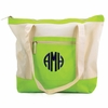 Lime Colorblock Beach Tote