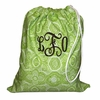 Lime Flourish Personalized Laundry Bag