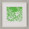 Lime Flower Power Framed Art