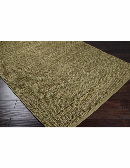 Lime Green Continental Jute Rug