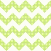 Lime Green Dots Chevron Wallpaper
