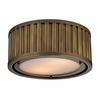 Linden Flush Mount In Aged Brass