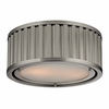 Linden Flush Mount In Brushed Nickel