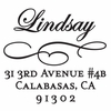 Lindsay Personalized Self-Inking Stamp