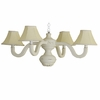 Linen Bella Four Arm Spindle Chandelier