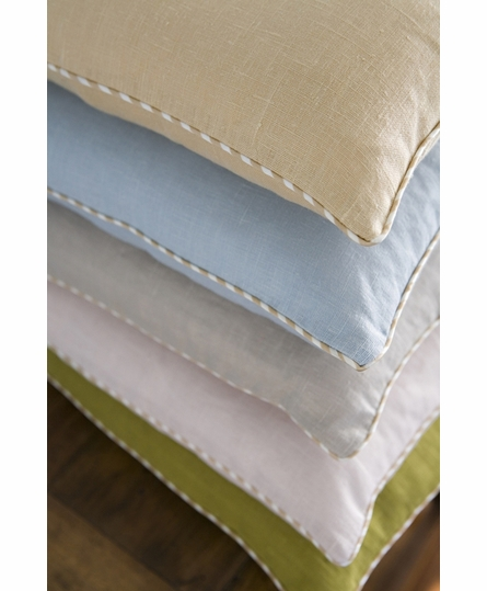 Linen Boudoir Pillow with Cording