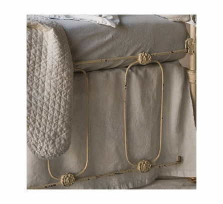 Linen Crib Dust Ruffle