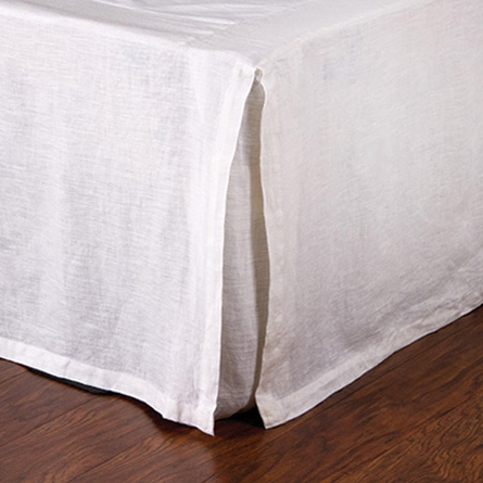 Linen Pleated Bed Skirt