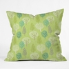 Linen Tree Throw Pillow