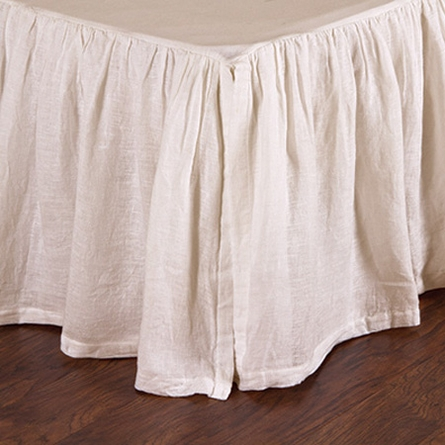 Linen Voile Gathered Bed Skirt