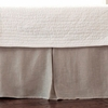 Linen Voile Natural Pleated Bedskirt