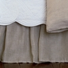 Linen Voile Natural Ruffled Bedskirt