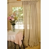 Linen Window Panel with Ruffles Set of 2