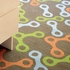 Links Runner Rug in Blue and Green