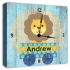 Lion on a Train Personalized Wall Clock