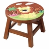Lion Solid Wood Stool