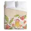 Little Bird on a Flowery Branch Luxe Duvet Cover