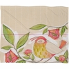 Little Bird on a Flowery Branch Fleece Throw Blanket
