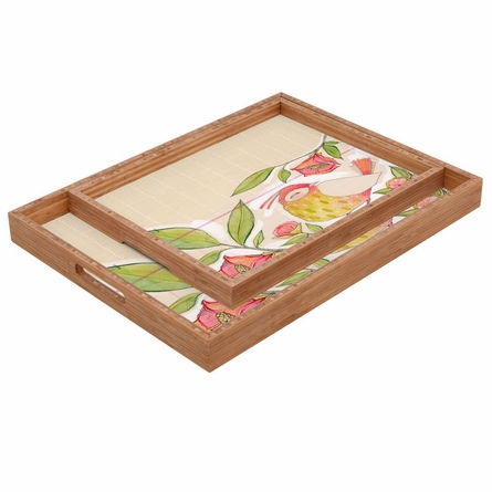 Little Bird on a Flowery Branch Rectangle Tray