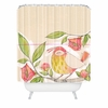 Little Bird on a Flowery Branch Shower Curtain