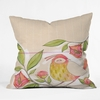Little Bird on a Flowery Branch Throw Pillow