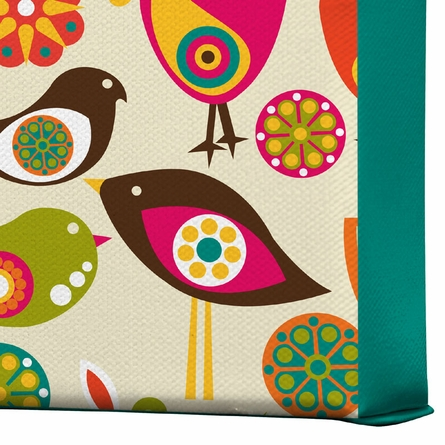 Little Birds Wrapped Canvas Art