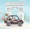 Little Black Car Canvas Wall Art