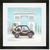 Little Black Car Framed Art Print