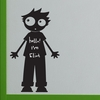 Little Boy Chalkboard Wall Decal