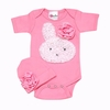 Little Bunny Too Cute Onesie and Cap Set