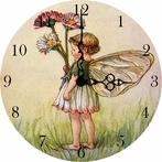 Little Daisy Fairy Vintage Wall Clock