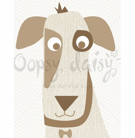 Little Dog Grin Canvas Wall Art