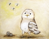 Little Dreamer Owl Canvas Reproduction