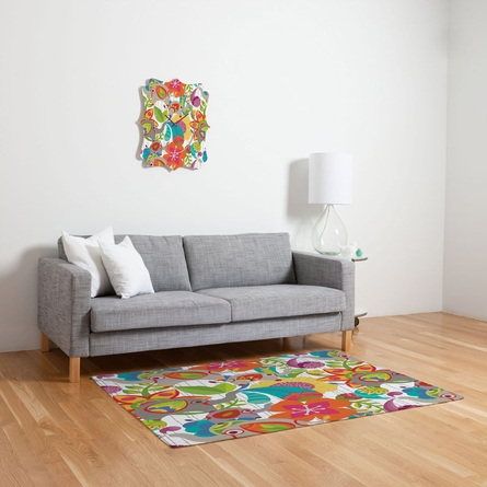Little Elephants Flat Weave Rug