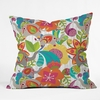 Little Elephants Throw Pillow