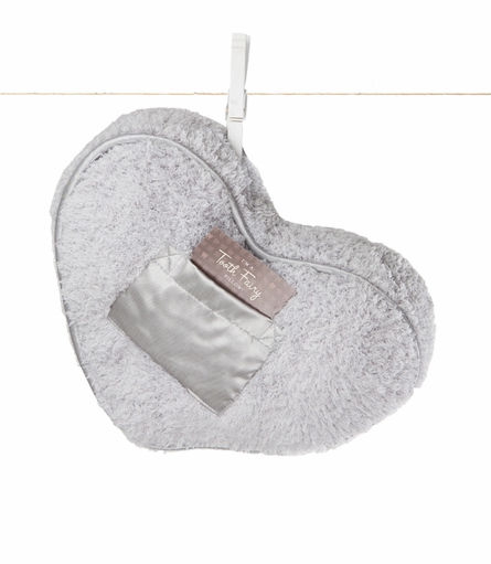 Little Giraffe Chenille Tooth Fairy Heart Pillow