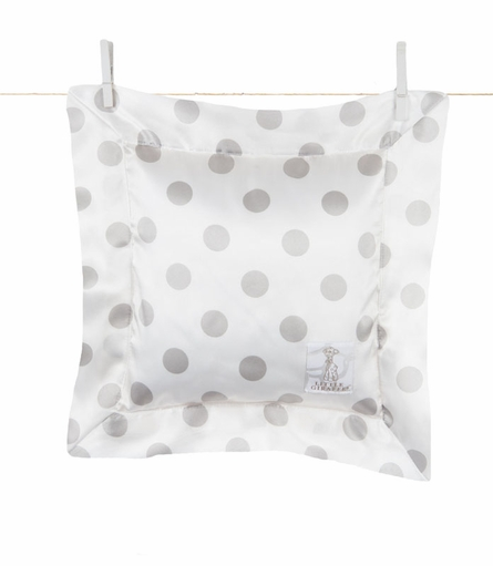 Little Giraffe Luxe Cream Dot Pillow