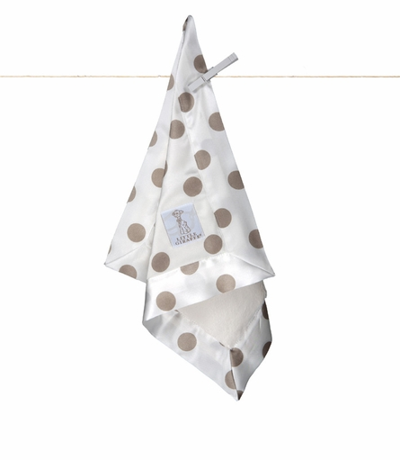 Little Giraffe Luxe Cream Dot Satin Security Blanky