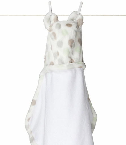 Little Giraffe Luxe Dot Hooded Towel