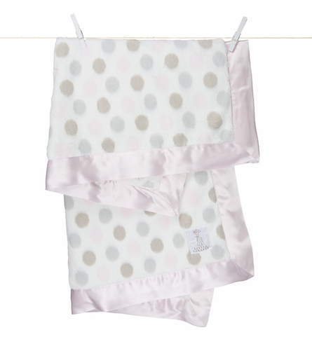 Little Giraffe Luxe Dot Receiving Blanket