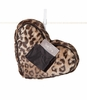 Little Giraffe Luxe Leopard Tooth Fairy Heart Pillow