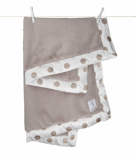 Little Giraffe Luxe New Dot Receiving Blanket