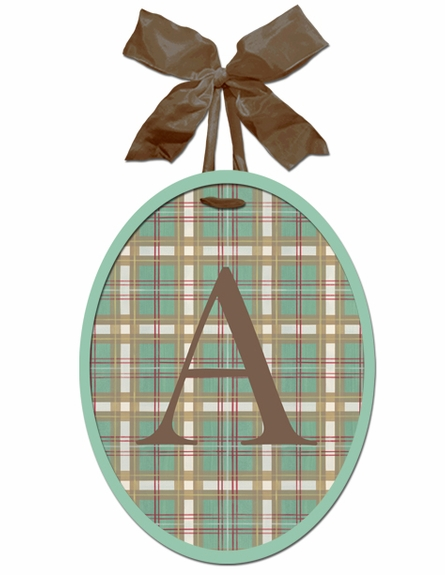 Little Golfer Monogram Wall Plaque