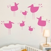Little Hot Chicks in Pink Gum Wall Decal