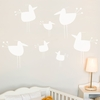 Little Hot Chicks in White Wall Decal