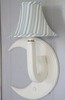 Little House Candystripe Blue Moon Wall Sconce