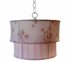 Little House Maiden's Bouquet Blush Double Drum Pendant